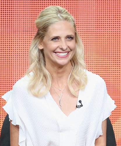 Sarah Michelle Gellar smiled on stage.