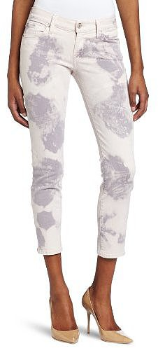 7 For All Mankind Women's Cloud Tie Dye Crop Roxanne Jean