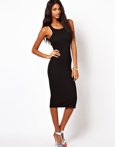 Oh My Love Textured Midi Dress with Strappy Back