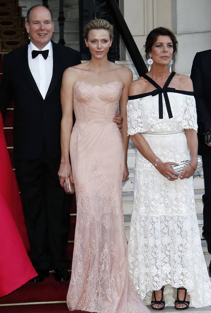 At the Love Ball in Monaco, royalty turned out to support The Naked Heart Foundation, including Prince Albert II of Monaco, an Atelier Versace-clad Princess Charlene of Monaco, and Princess Caroline of Hanover.