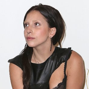 Lady Gaga With Dark Hair and Bleached Brows