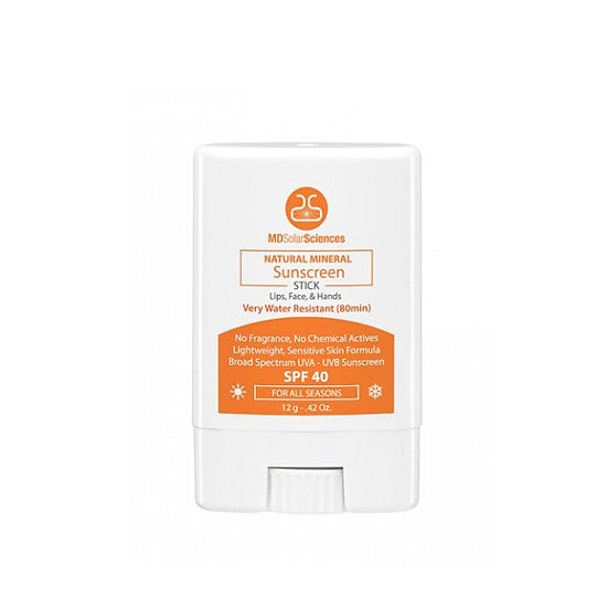 MD Solar Sciences Natural Mineral Sunscreen Stick ($13) is broad-spectrum and perfect for all skin types.