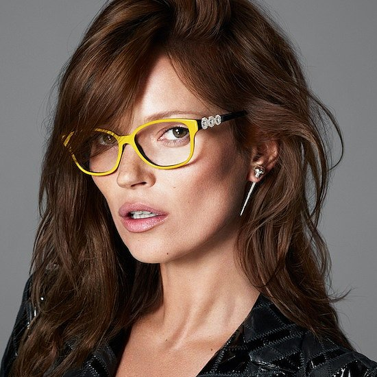 Kate Moss in Versace Eyeglasses 2013 Ad Campaign