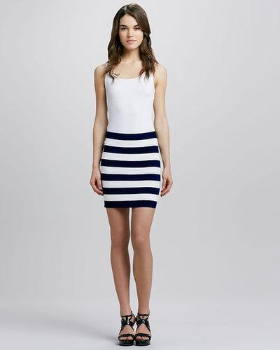 Theory Kendine Navy Skirt