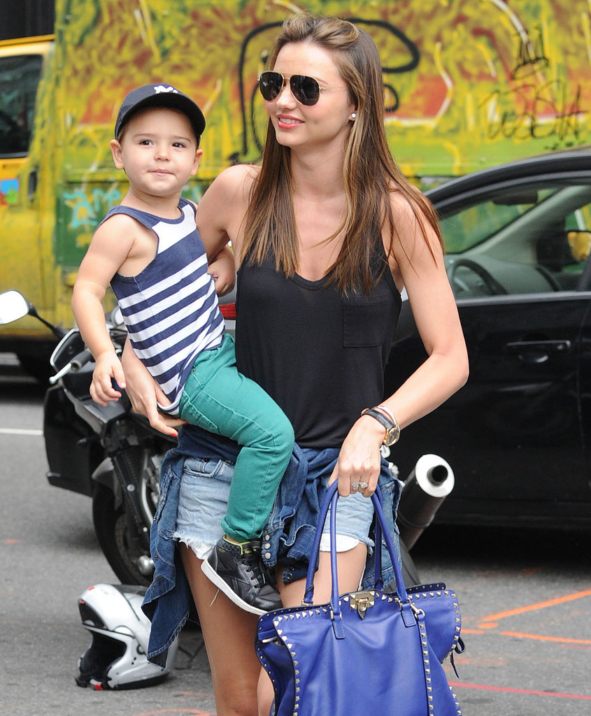 Miranda Kerr took her son, Flynn, shopping in NYC.