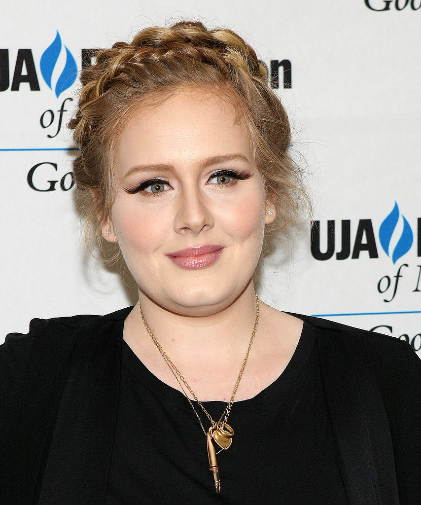 Adele skipped her signature bouffant for a crown of braids.
