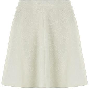 Ivory lace skater skirt