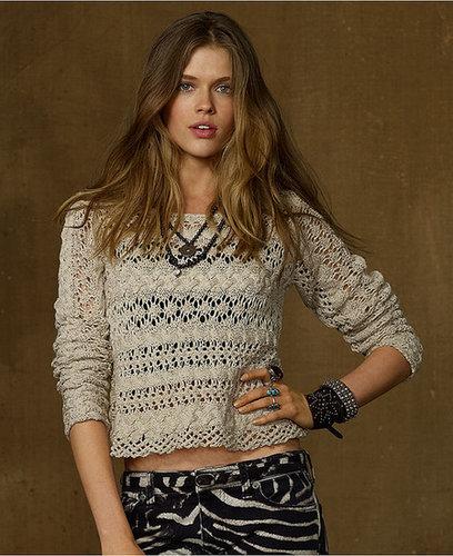 Denim & Supply Ralph Lauren Sweater, Long-Sleeve Open-Knit Slouchy