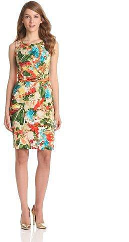 Evan Picone Women's Sleeveless Floral Dress