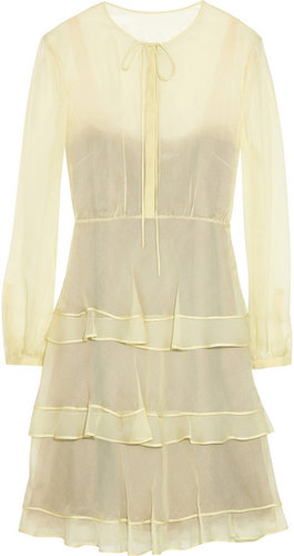 Valentino Tiered silk-chiffon dress