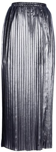Michael Michael Kors long pleated metallic skirt