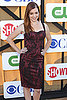 Alyson Hannigan attended the CW, CBS, and Showtime party.