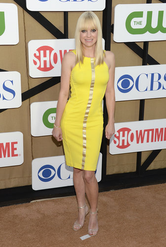 Anna Faris was on hand at the CBS party to promote her new comedy Mom.