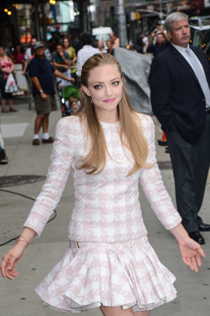 Amanda Seyfried Gets Lovely For a Lovelace Press Day in NYC