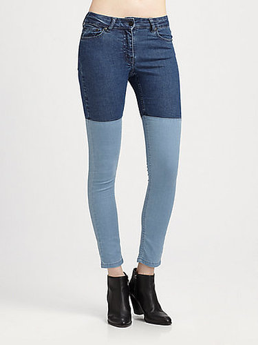 Surface To Air Patchwork Skinny Jeans