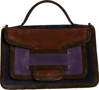 Pierre Hardy Colorblock Suede AV02 Top Handle Bag