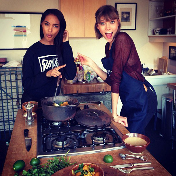 "It was a ""#Jourlie kitchen takeover!"" when these two got busy on the stove."