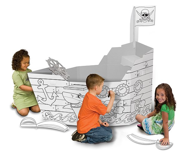 We're crazy about My Very Own House's line of cardboard toys that are designed to inspire imaginative play. Hit the high seas (or just the backyard) with the brand's eco-friendly Pirate Ship ($30, originally $40).