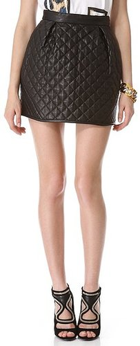 Just cavalli Quilted Leather Miniskirt