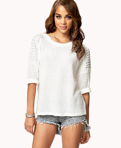 FOREVER 21 Studded Chunky Sweater