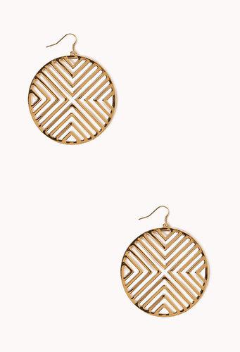 FOREVER 21 Mod Chevron Earrings