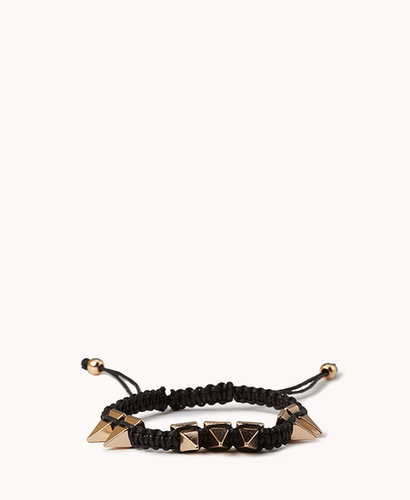 FOREVER 21 Spiked Macramé Bracelet