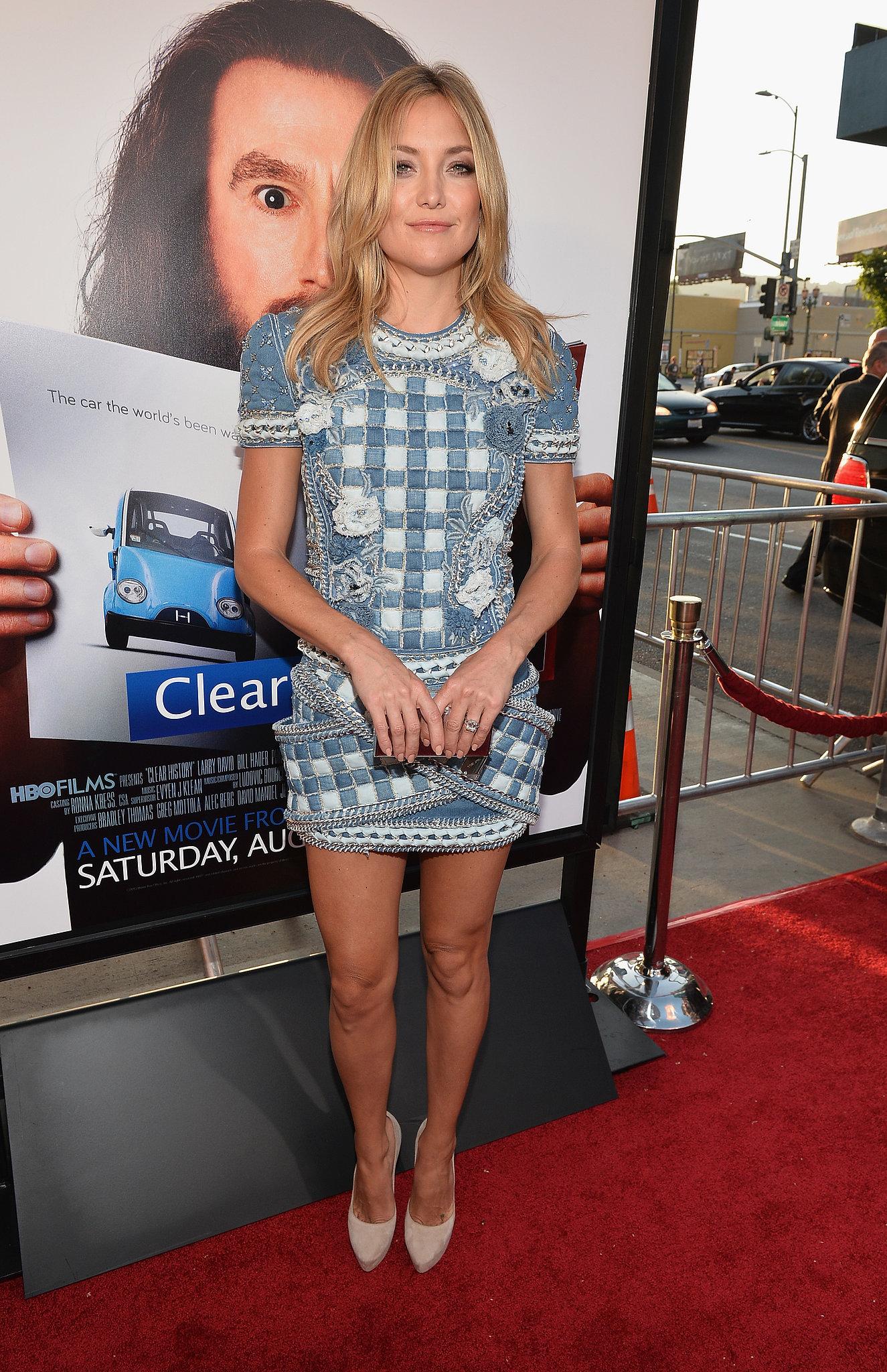 Kate Hudson wore Balmain to the premiere.