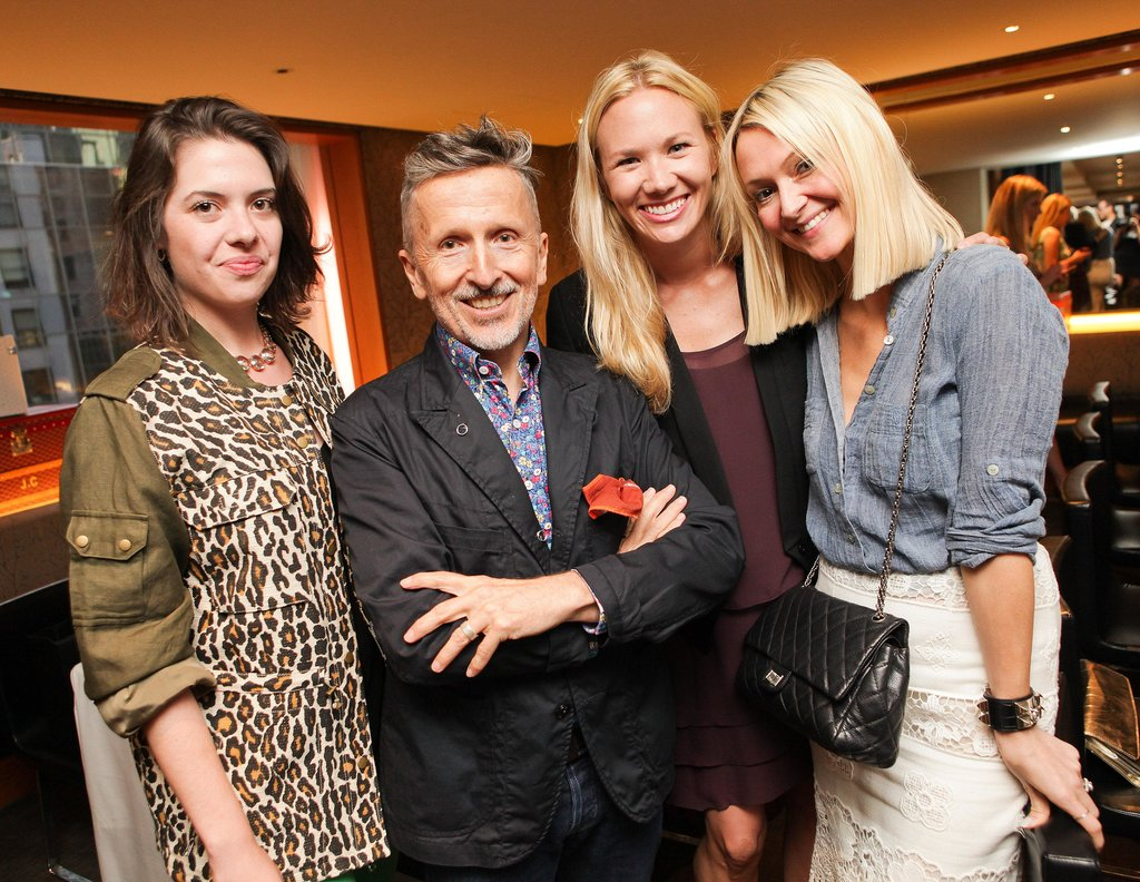 Brittany Adams, Simon Doonan, Kathryn Floyd, Zanna Roberts Rassi squeezed in frame to fete the Barneys bash.