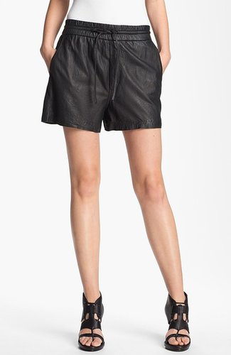 HELMUT Helmut Lang Washed Leather Shorts Black Medium