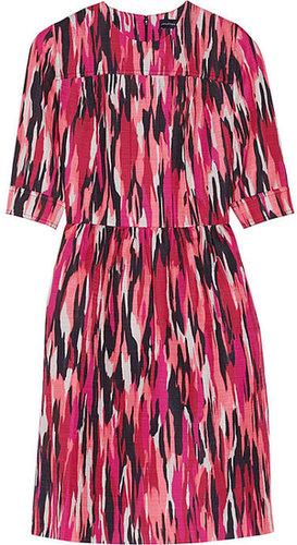 Jonathan Saunders Mila printed slub cotton-blend dress