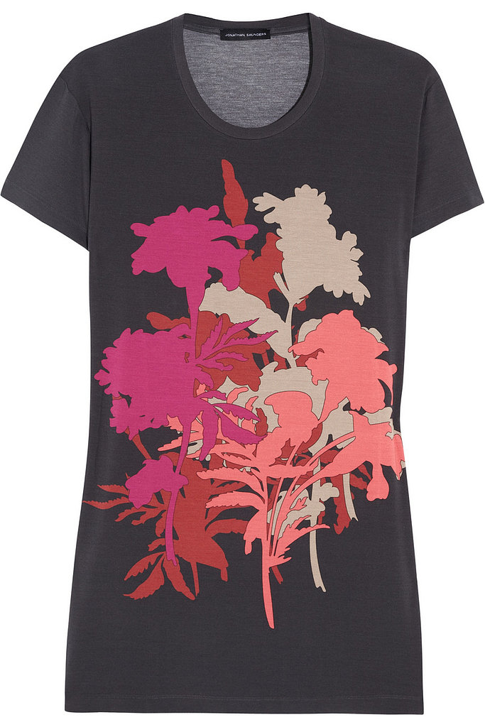 Jonathan Saunders's Fall blooms were shown as silhouettes, giving them a fresh floral feel. Get a piece of it by scooping up this plain tee ($320).
