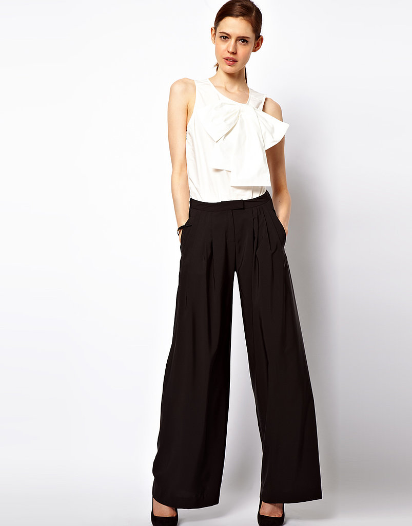 Impress your superiors with style by swishing around in a pair of wide-leg trousers ($37).