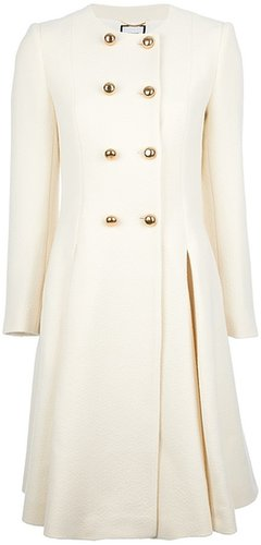 Moschino contrast double breasted coat