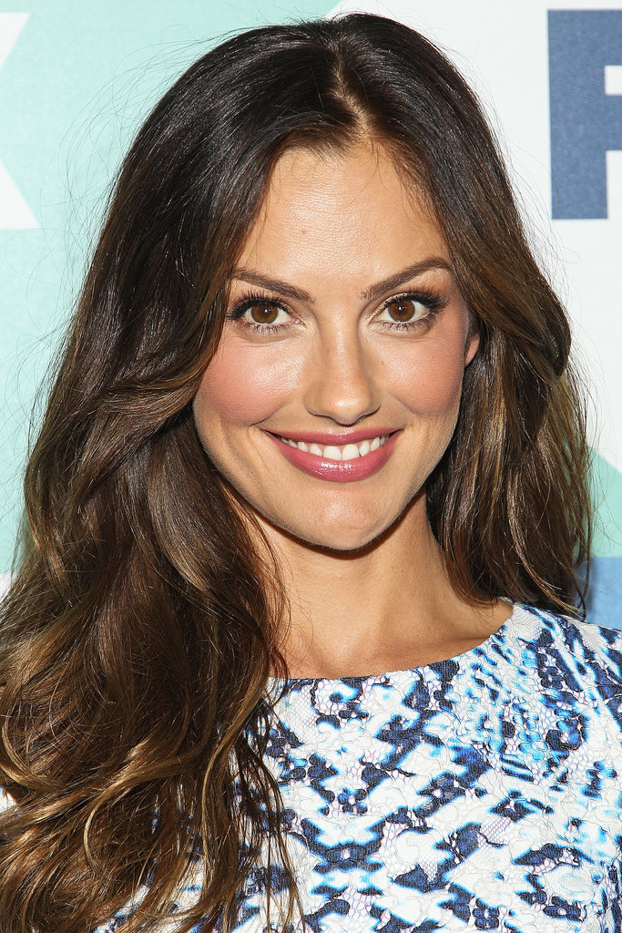 Minka Kelly stuck with her signature brunette waves and flushed makeup look for the Fox All-Star Party.