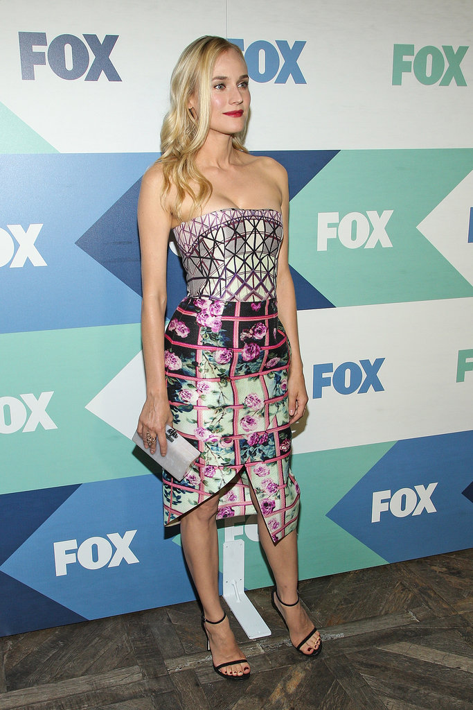 Diane Kruger was one of the many celebrities to attend the Fox All-Star Party in LA.