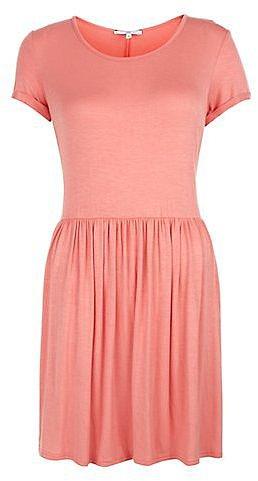 Coral T-Shirt Skater Dress