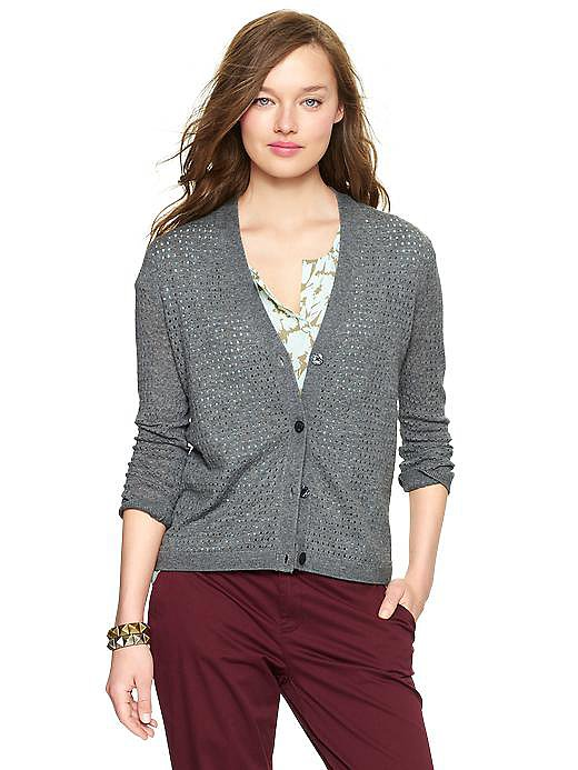 Grab a trusty Gap cardigan ($50) now and use it to transition your lighter-weight pieces into Fall.