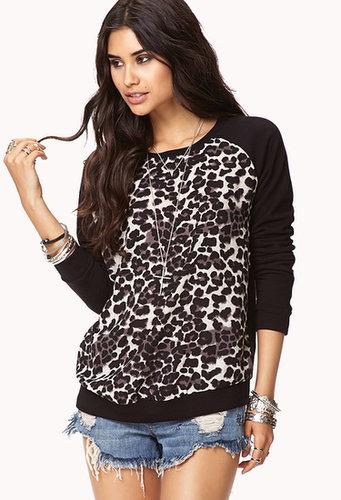 FOREVER 21 Sporty Leopard Sweatshirt