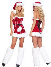 3 Pieces Naughty Santa Girl Costume