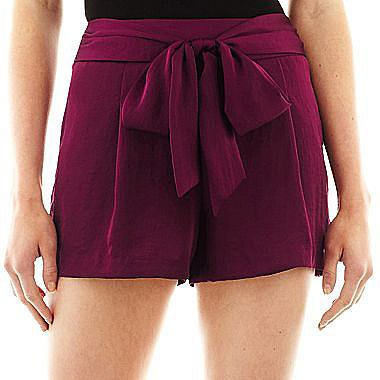 Bisou Bisou® Tie-Front Soft Shorts