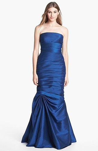 ML Monique Lhuillier Bridesmaids Strapless Ruched Faille Mermaid Gown (Nordstrom Exclusive)
