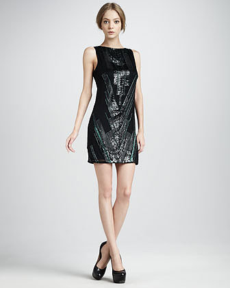 Mark + James by Badgley Mischka Deco-Bead Minidress