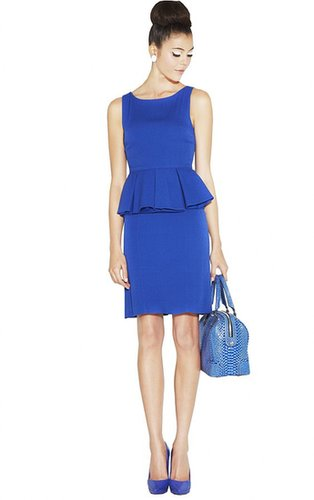 June Short Pleated Peplum Dress
