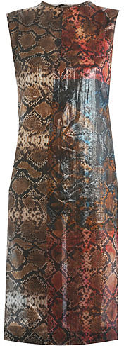 Preen Snakeshell print sleeveless dress