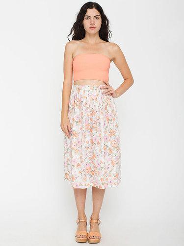 Vintage Floral Mid-Length Skirt
