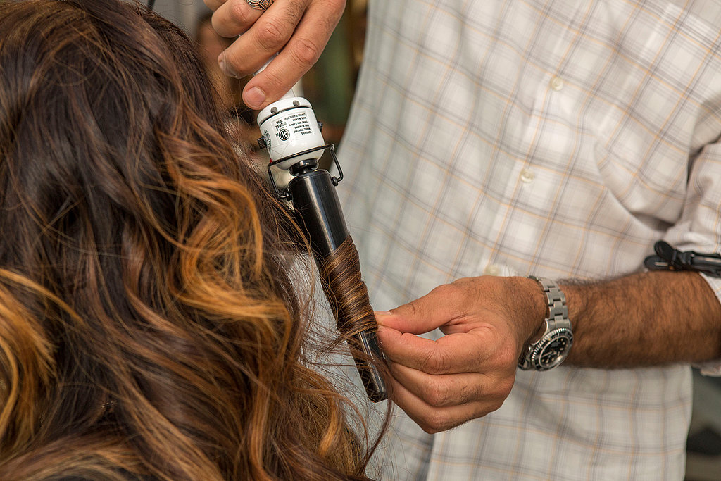If there are any strands you missed, feel free to go back and run the curling iron through them again.