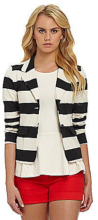 Kensie Striped Ponte Jacket