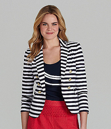 Cremieux Double-Breasted Stripe Blazer