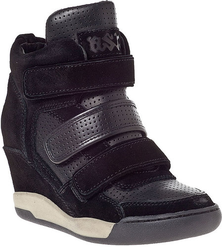 ASH Alex Wedge Sneaker Black Leather
