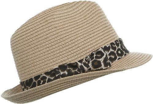 Chapeau mou à liseré léopard